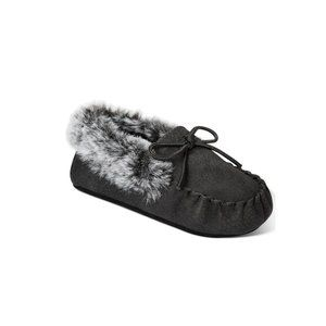 First Impressions Black Gray Baby Soft Sole Shoes